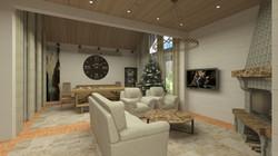 Дизайн гостиной, камин