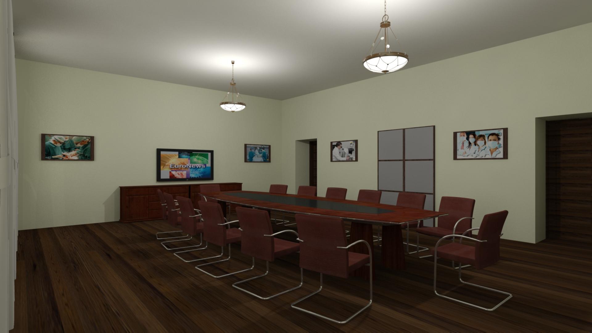 Дизайн комнаты для переговоров