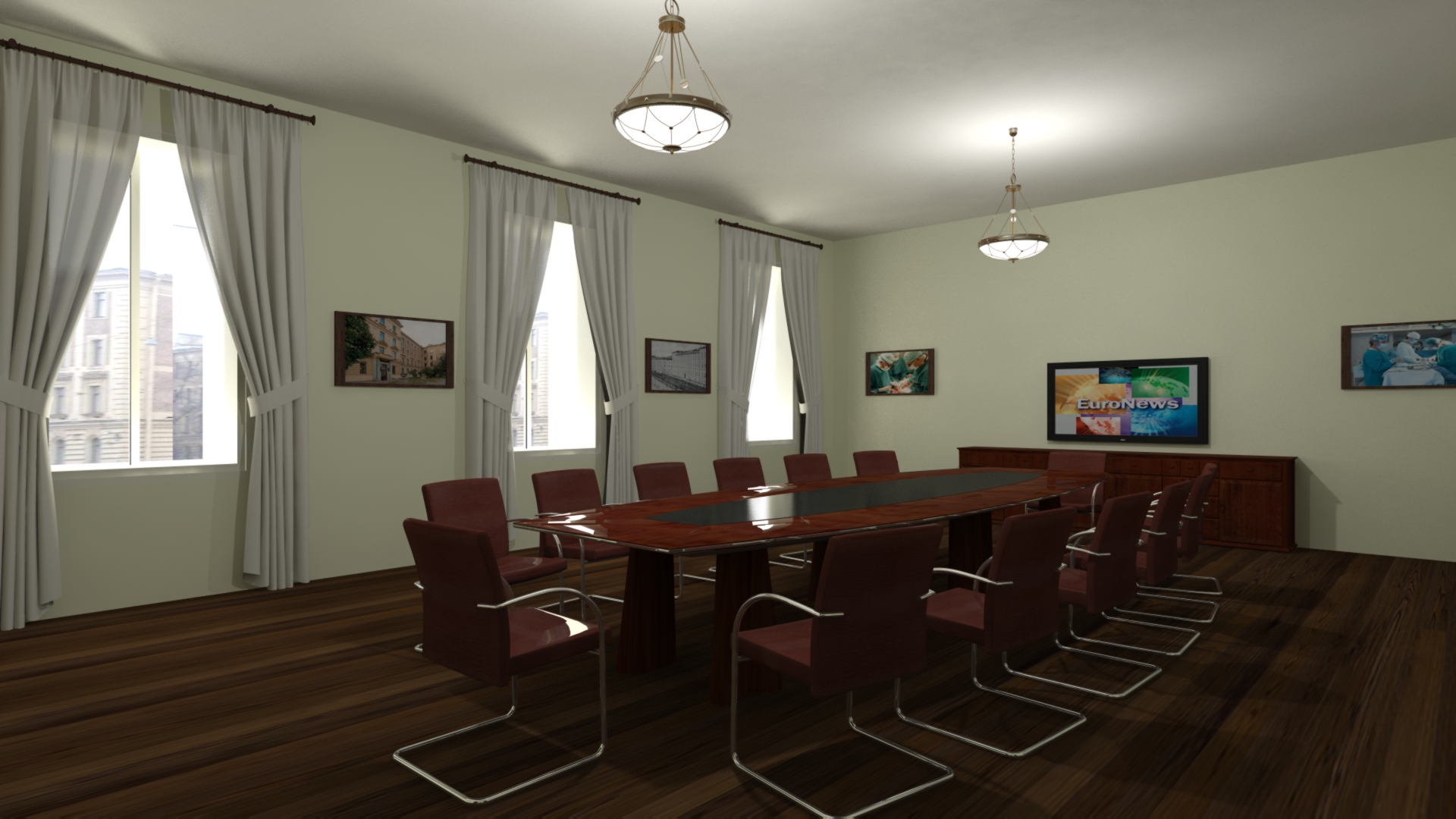 Дизайн кабинета 138 кв.м.