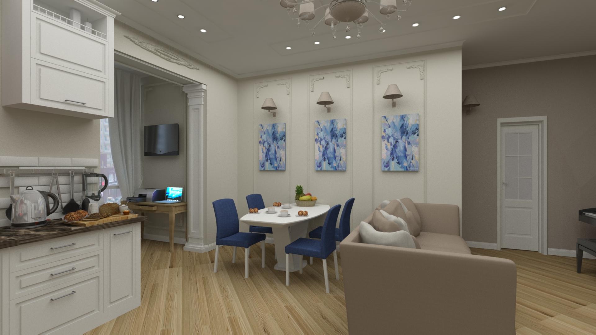 Дизайн кухни - гостиной