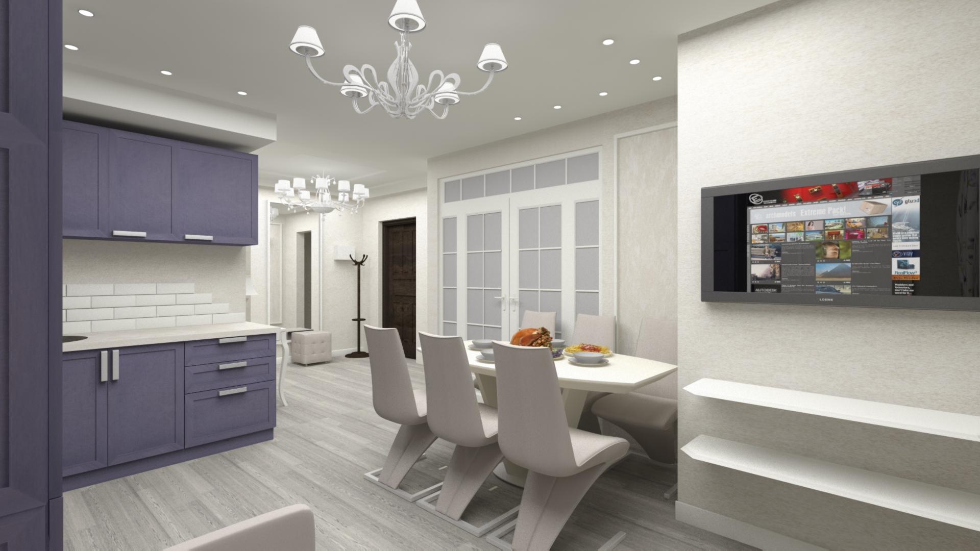 Дизайн кухни, прихожей