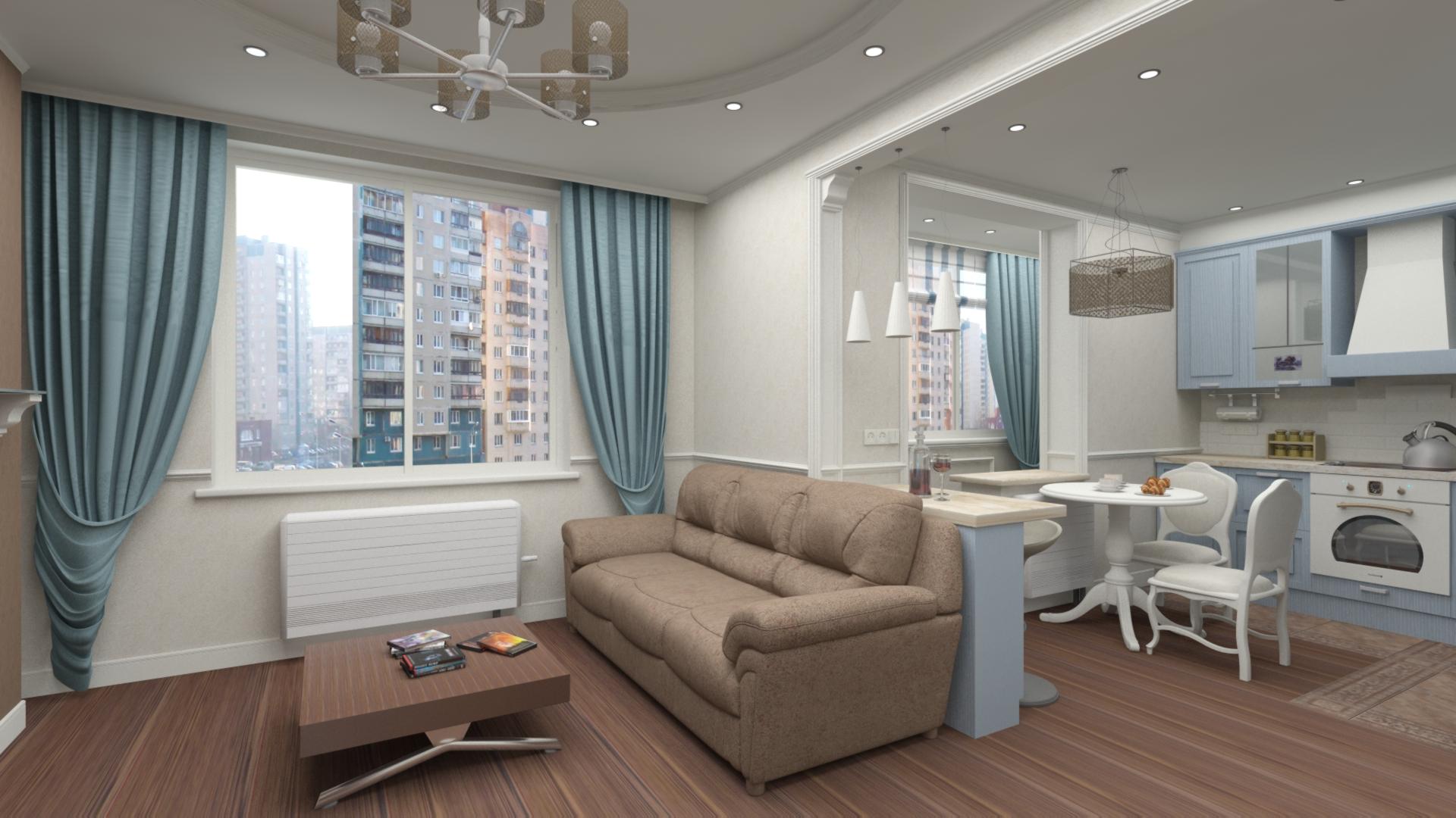 Двухкомнатная квартира  47 кв.м.
