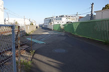 川崎重工工場と引き込み線