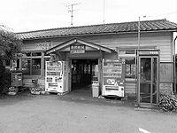 勝間田駅舎外観