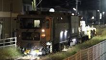 津山線で保線作業中のマルタイ