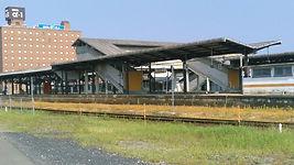 全路線運休中の津山駅