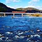 幸福橋から旭川鉄橋