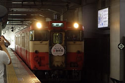 列車入線 岡山