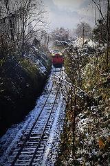 雪の津山線 ②