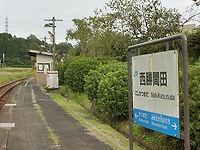 西勝間田駅ホーム