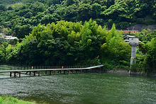 牧山の沈下橋