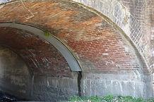 老ケ辻橋梁 内壁