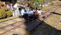 美作河井線路で食事
