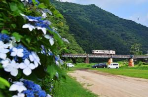 宇甘川橋梁を行く キハ40単行 河西さん撮影.jpg
