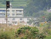 亀甲駅 岡山方遠方信号
