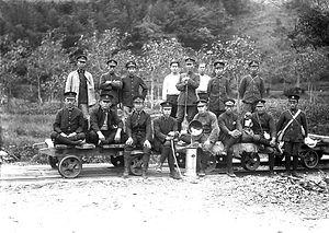 津山保線区の人々