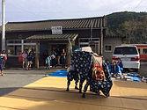 江見駅舎を見学