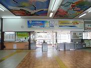 津山駅改札