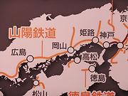 1900年の路線パネル 京都鉄道博物館