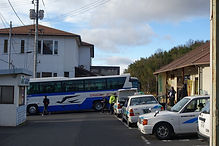 バスへの乗り換え 亀甲