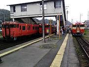 福渡駅 3線ならび