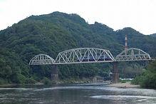 木津川鉄橋を渡る列車