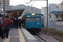 和田岬駅 103系.jpg