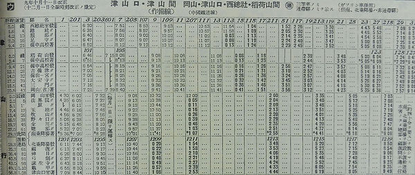 昭和9年 復刻版時刻表