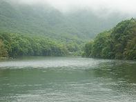 増水の旭川