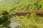 新緑の第一誕生寺川鉄橋