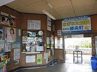 勝間田駅舎内部
