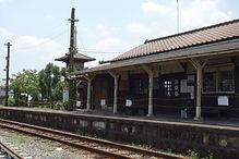 駅舎前のホーム