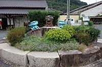 弓削駅・駅前花壇