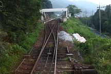 再開初列車展望 牧山駅1