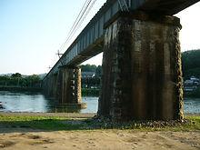 旭川橋梁 福渡側から