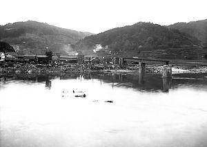流失した旭川橋梁