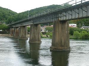 現在の旭川橋梁