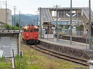 福渡駅快速入線