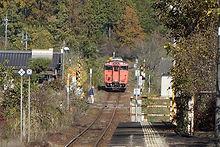 誕生寺駅から小原方