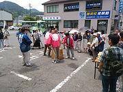 勝山駅前 餅つき