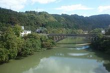 車窓から笹津橋