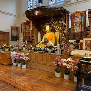 centre's buddha statue