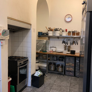 stove area and work station