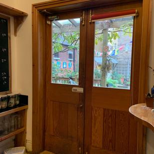 Cafe entry / garden access