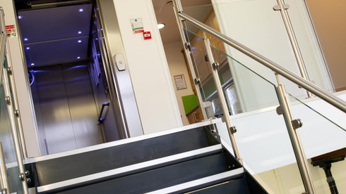 Light airy communal spaces with disability access