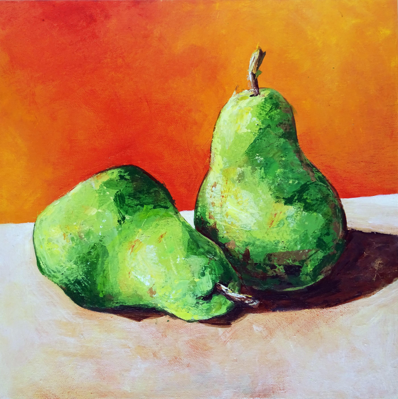 Acrylic painting class: Pears