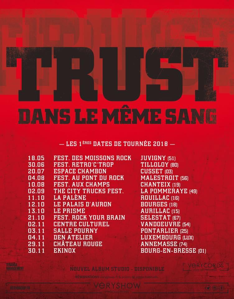 Trust tournée 2018-2019