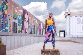 Fashion Portraits at The Silos at Sawyer Yards - Authentically B