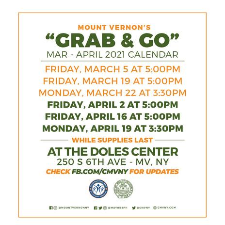 Grab & GO March- April