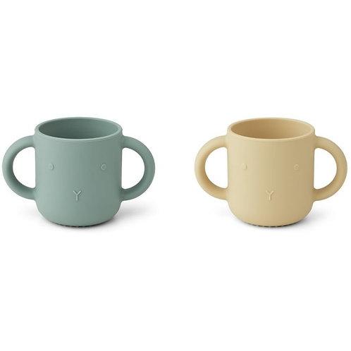 2 Tasses en silicone | Lapin Jaune et peppermint LIEWOOD